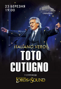 "TOTO COTUGNO & Lords of the Sound ""ITALIANO VERO"""